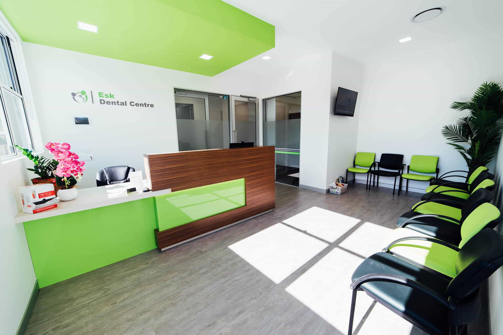 Esk Dental fitout - reception