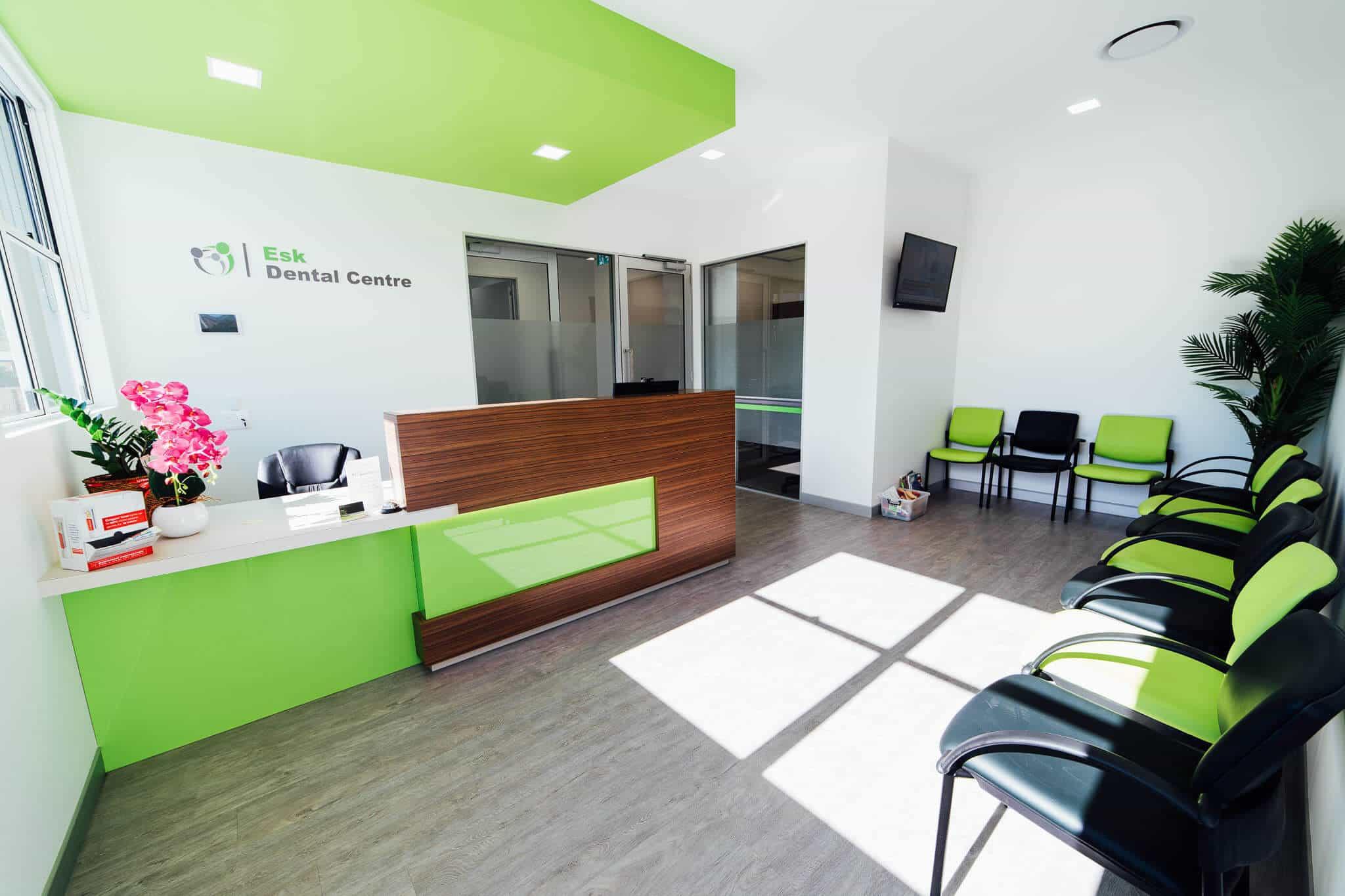 Esk Dental fitout - reception