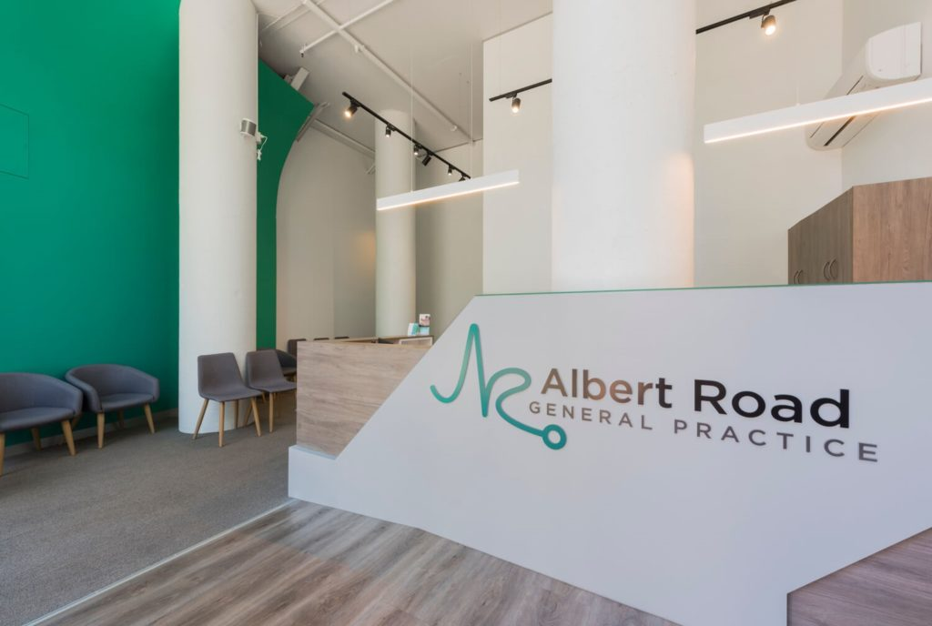 Albert Road Medical reception