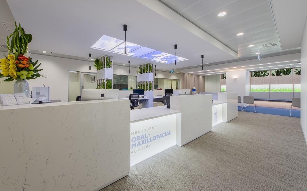 Dental clinic reception lighting