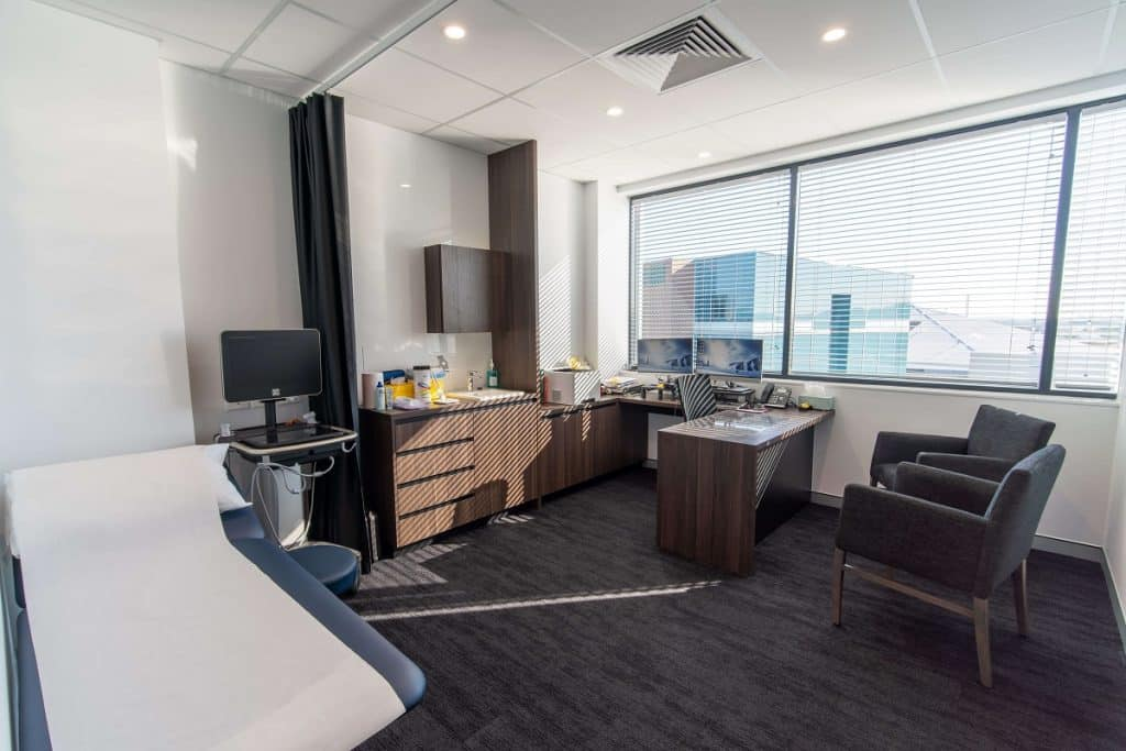 Brisbane Rehabilitation Clinic fitout - consult room