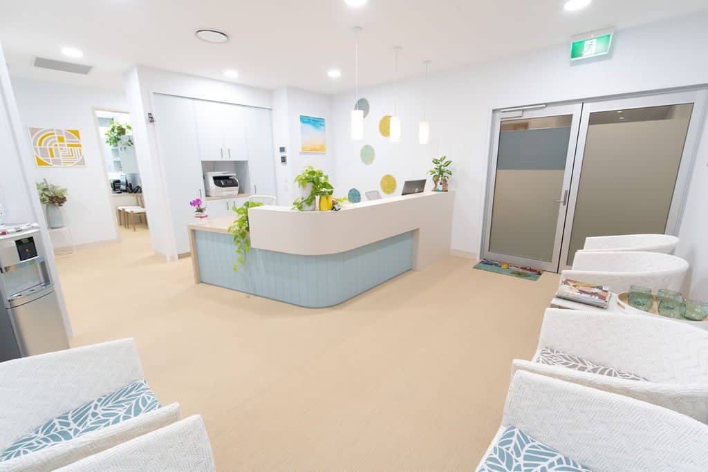 Beach-inspired specialist suite at Greenslopes Private Hospital