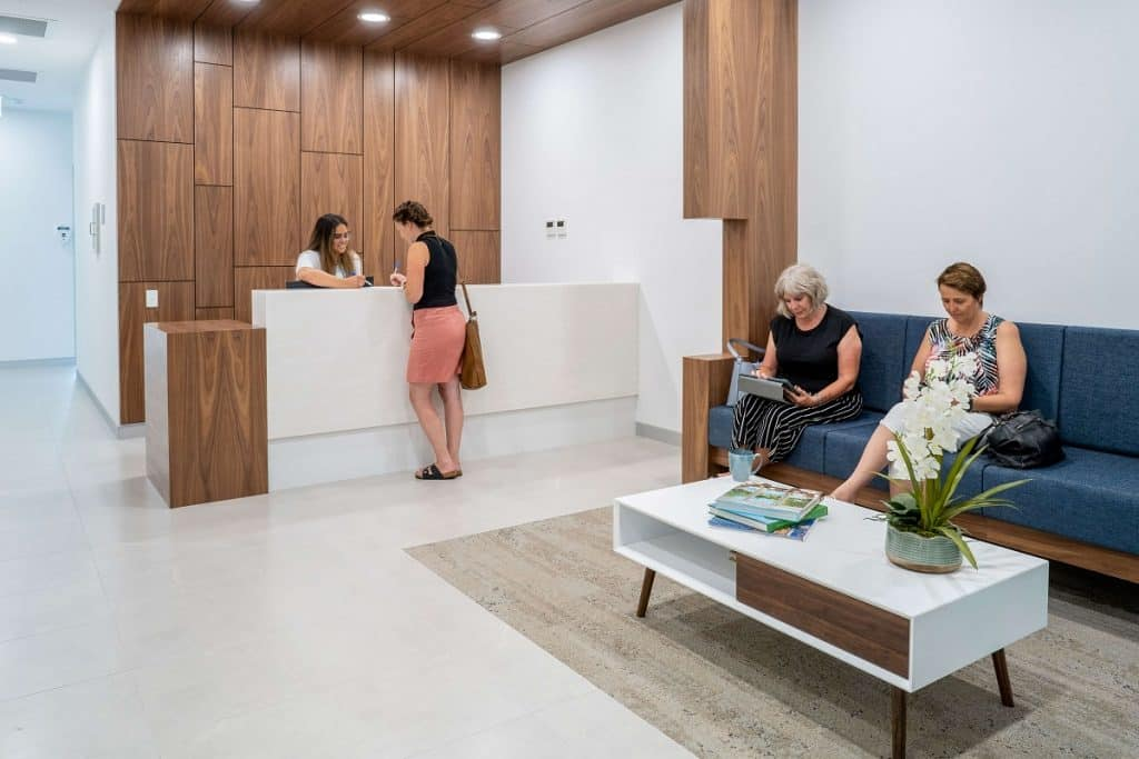 Dental Implant Clinic Fitout - Reception