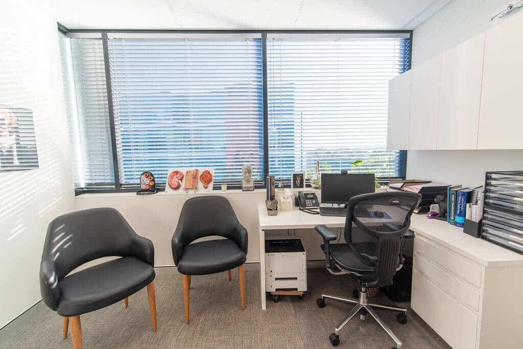 Miles Nephrology consulting room
