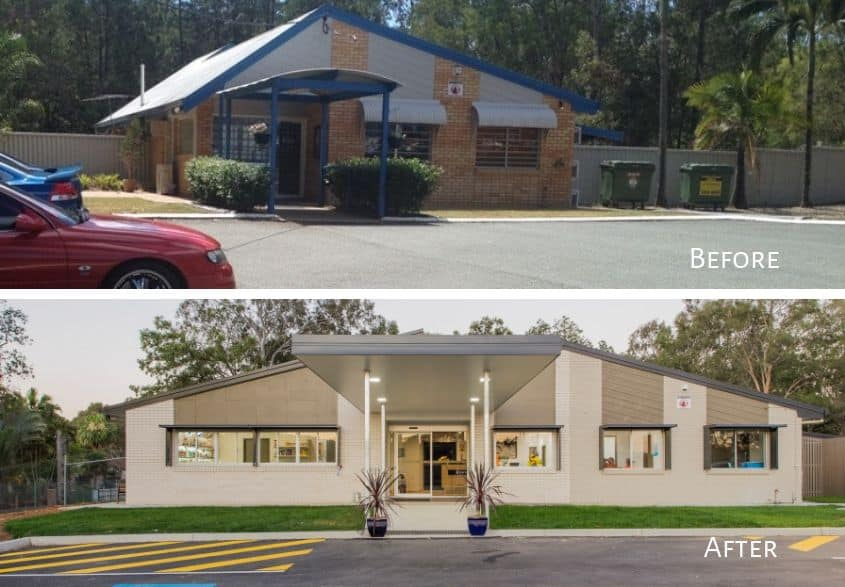 Park Ridge Animal Hospital Before and After staged project