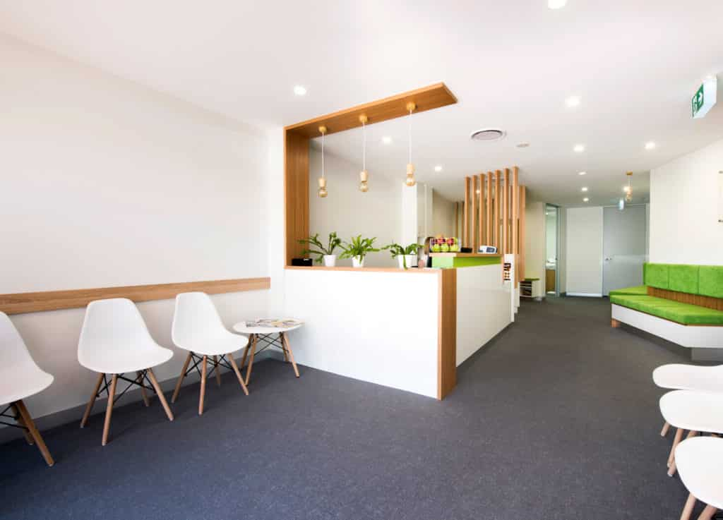 Grow Medical practice fitout - reception