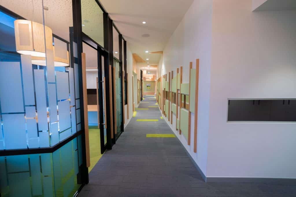 Today's Dentistry large dental clinic fitout - central corridor