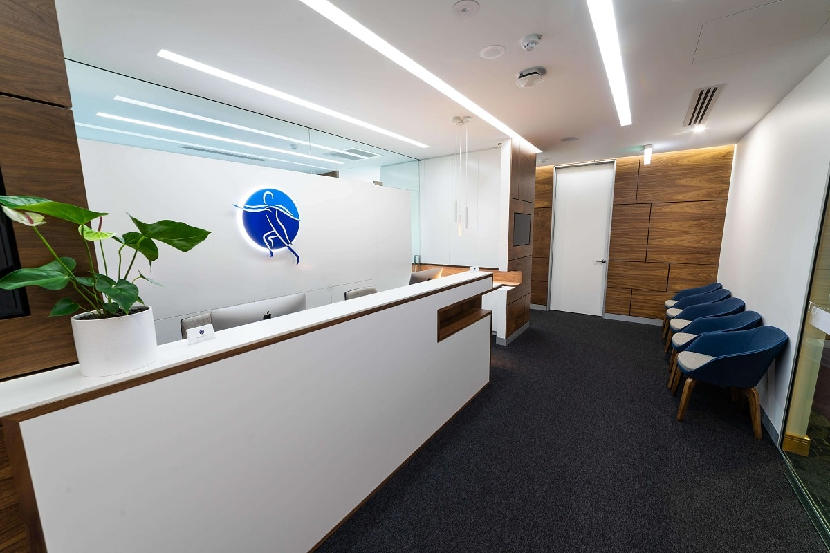 Comfortable and stylish specialist practice waiting room