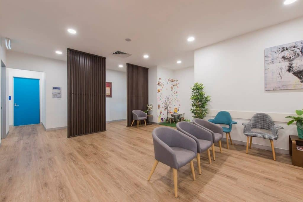 A medical practice area with natural elements