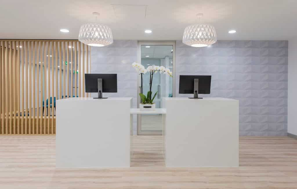 Medical on Miami fitout - reception area