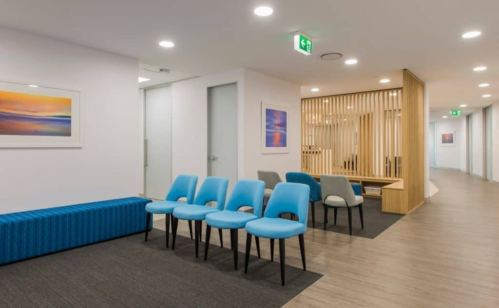 Medical on Miami fitout - waiting area