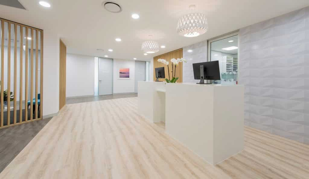 Medical clinic flooring