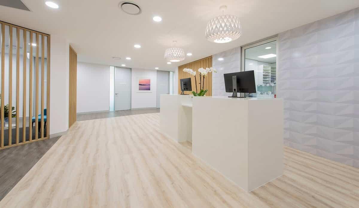 Medical clinic flooring
