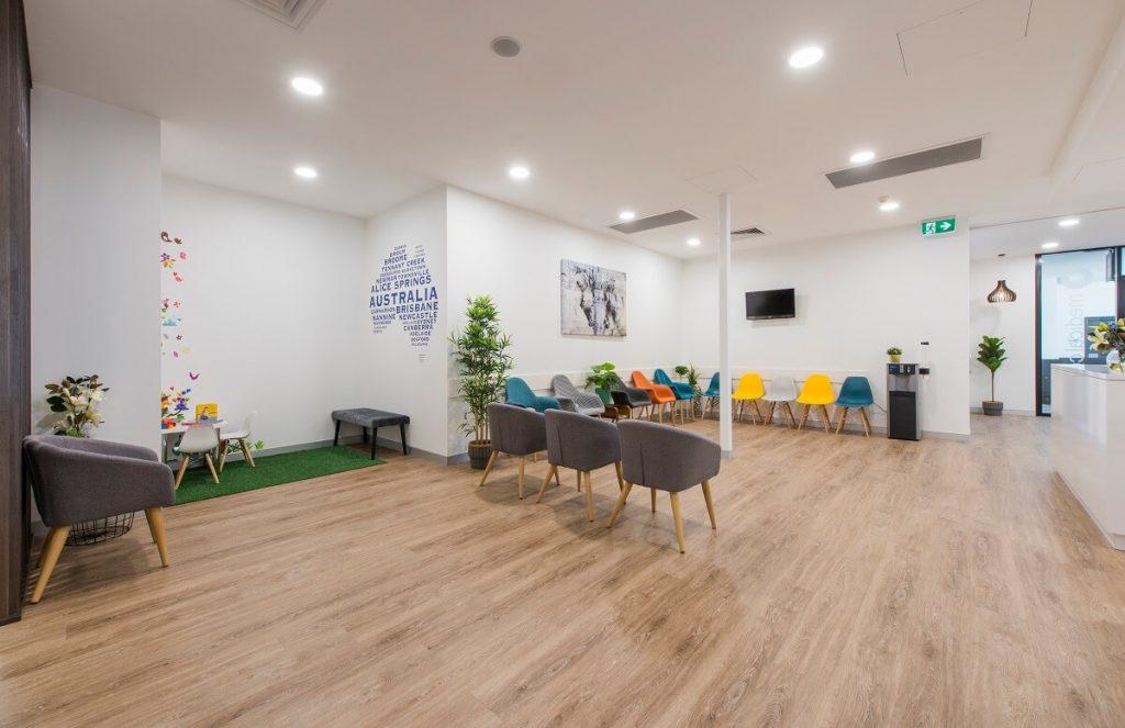 Medical practice patient-centric design - waiting room furniture