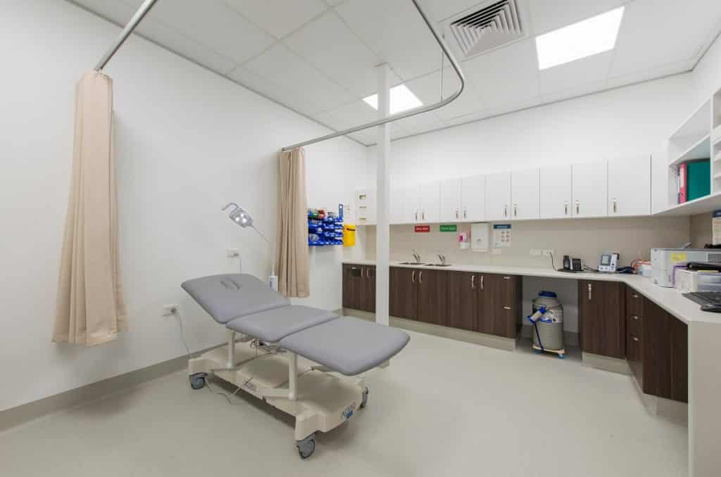 Racecourse Village Medical Centre combined treatment and sterilisation area
