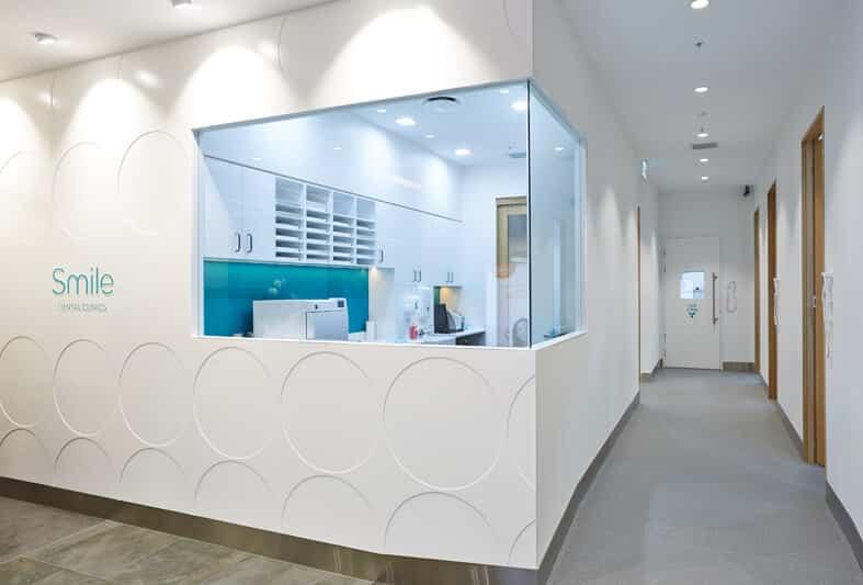 Interior windows at Smile Dental Clinics