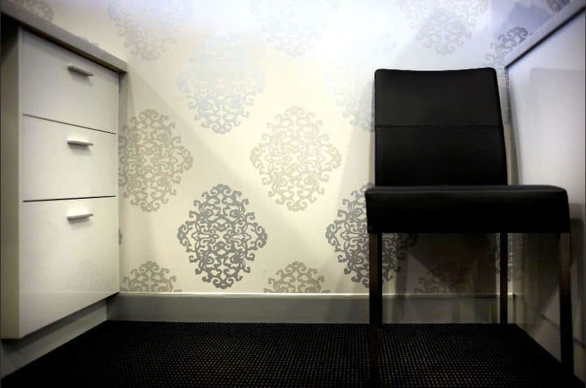 Wallpaper in medical clinic consult room