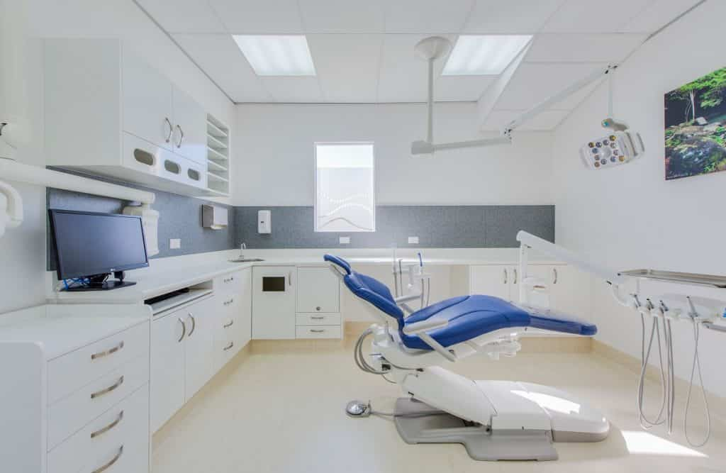 Frosted window feature and Hinterland View Dental clinic