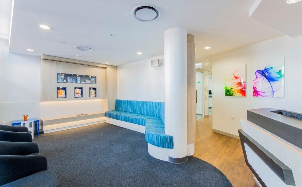 Kid-friendly dental waiting room