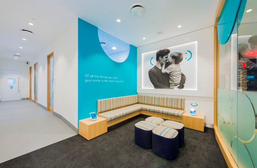 Dental clinic waiting room design