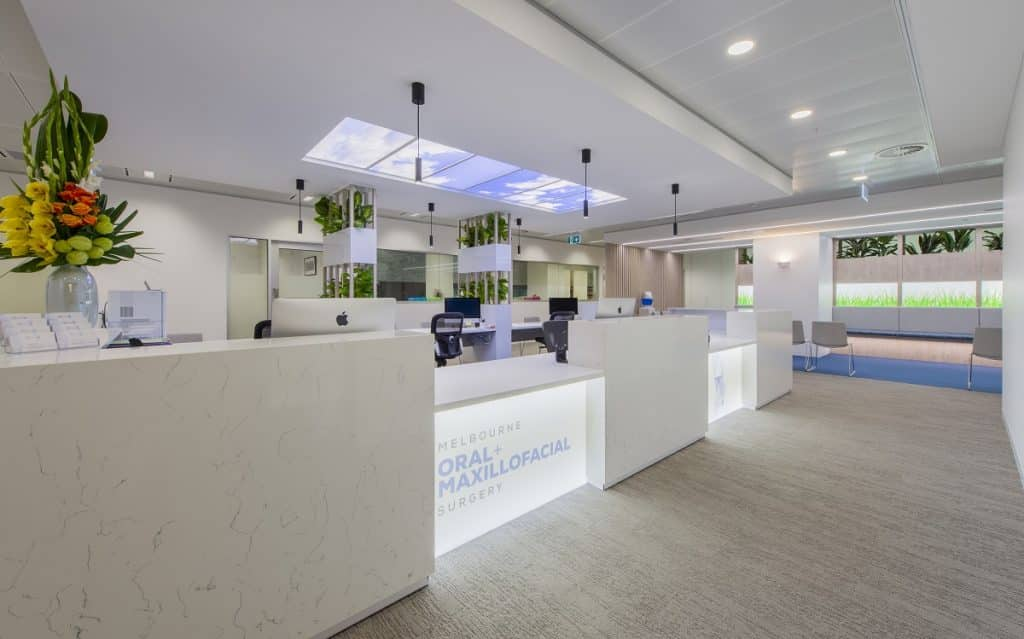 Skylights feature in this dental practice