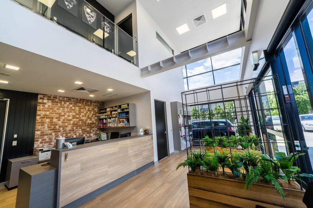 Reedy Creek Vet fitout industrial design style reception