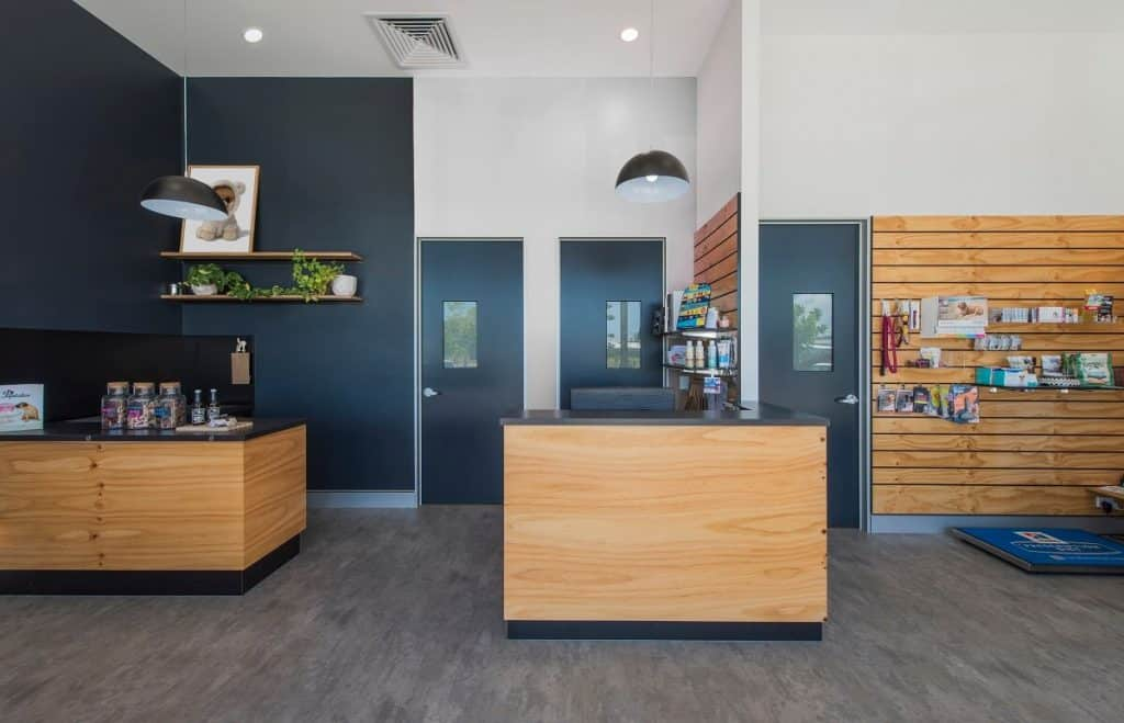 Casuarina Vet Practice fitout - informal coffee area for clients