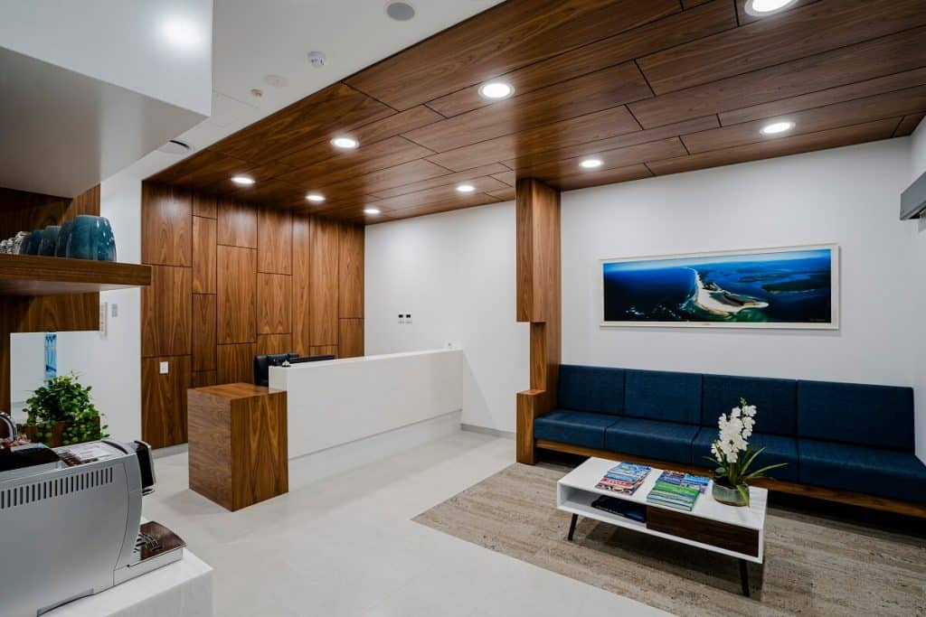 Dental clinic with a luxe design style
