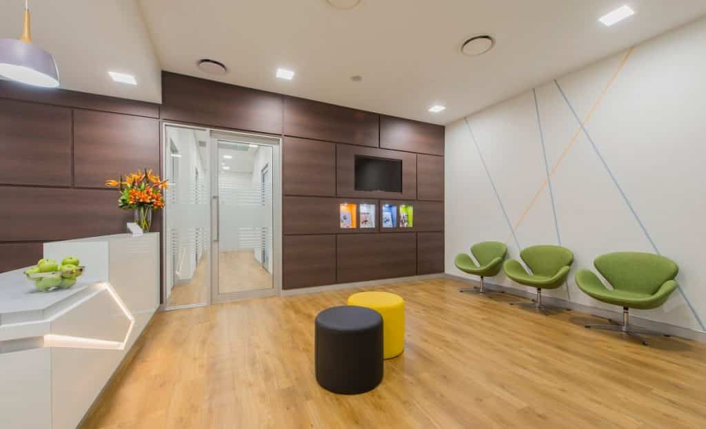 Clifton Family Dental fitout - reception