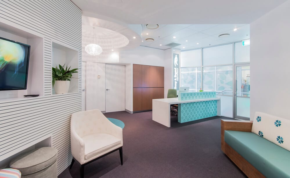 Healthcare practice with a calming colour scheme