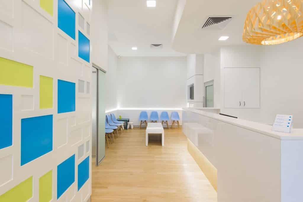 Healthcare practice with a colourful colour scheme