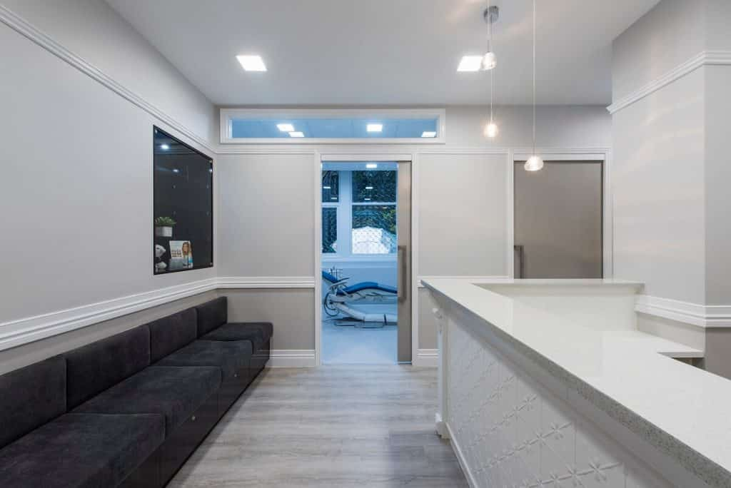 Healthcare practice with personality added through texture and materials