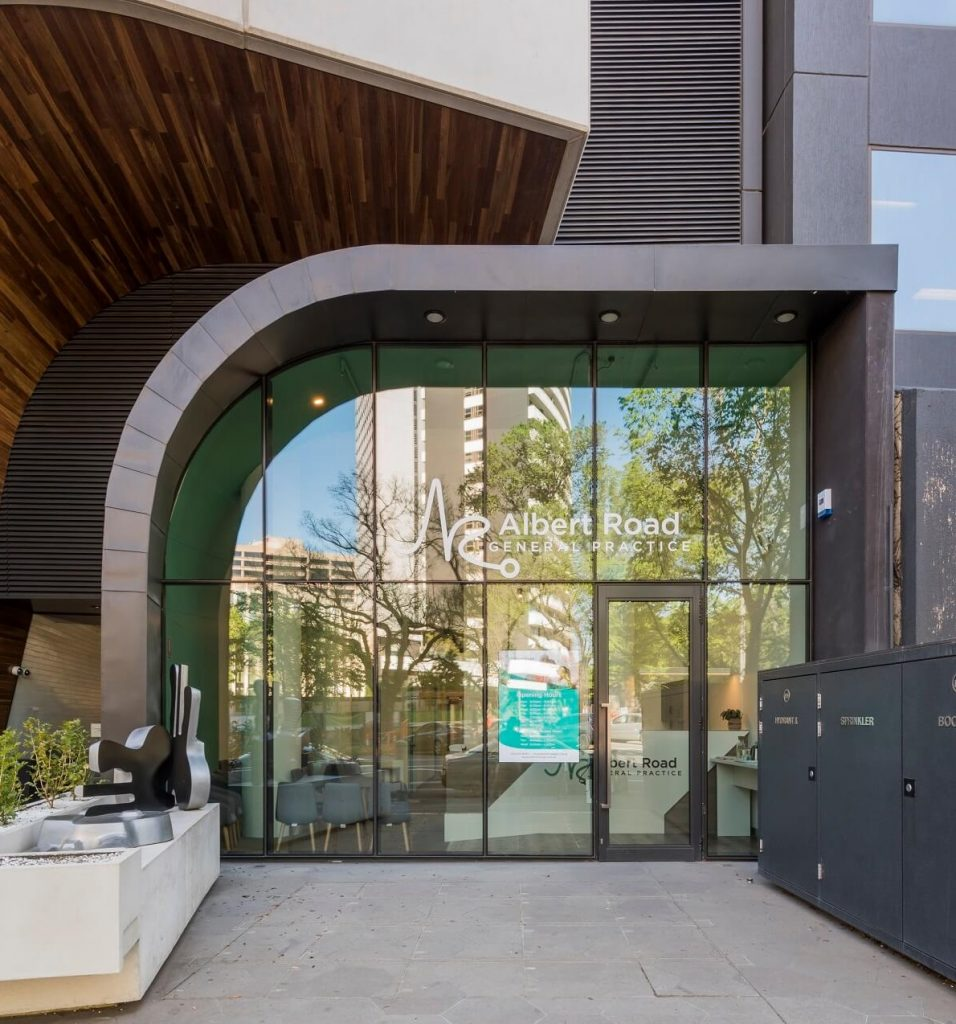 Glass frontage is a key feature of this healthcare practice fitout