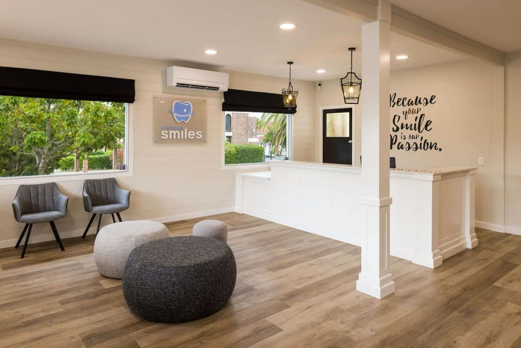 Neutral colours feature in this dental practice fitout