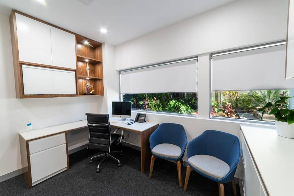 Natural elements feature in this consulting room