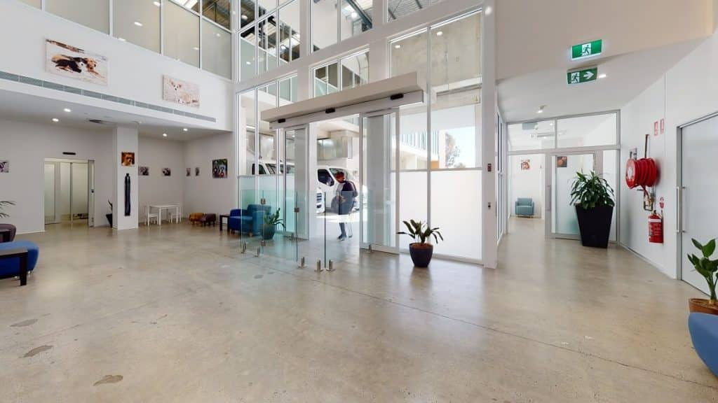This light and airy vet practice follows the latest design trends