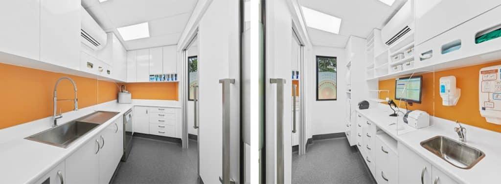 Dental practice sterilisation rooms