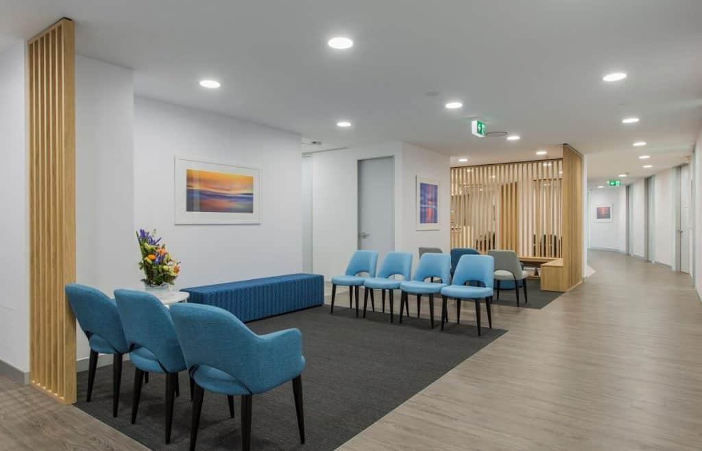 This medical practice fitout follows the key design guidelines