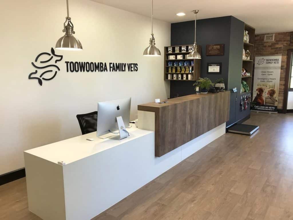 Vet clinic design setup - reception area