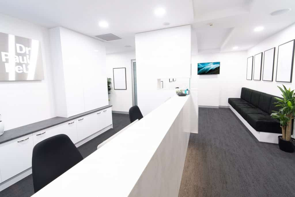 Medical fitout with a modern colours and materials palette