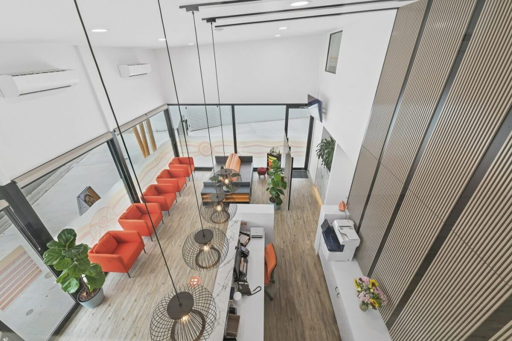Dental practice with a modern design style