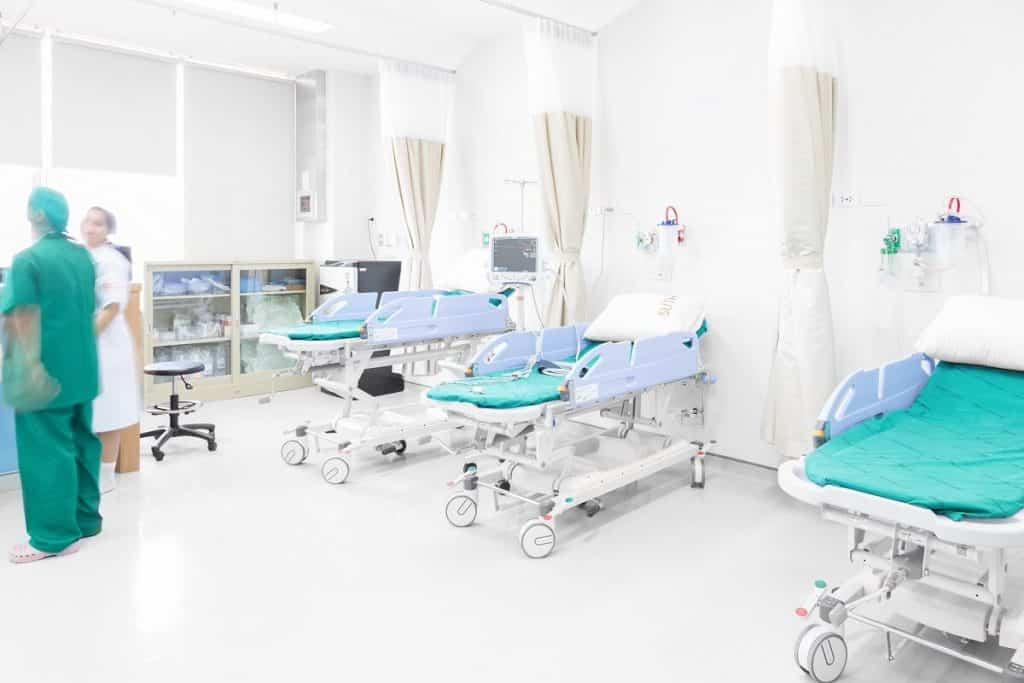 Day hospital recovery area design