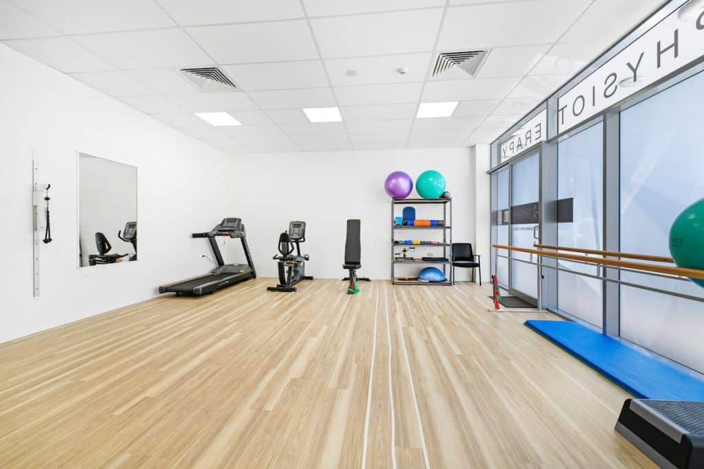 Birtinya Physio clinic exercise room fitout