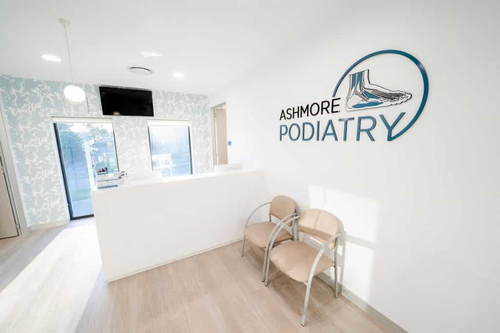Ashmore Podiatry reception fitout