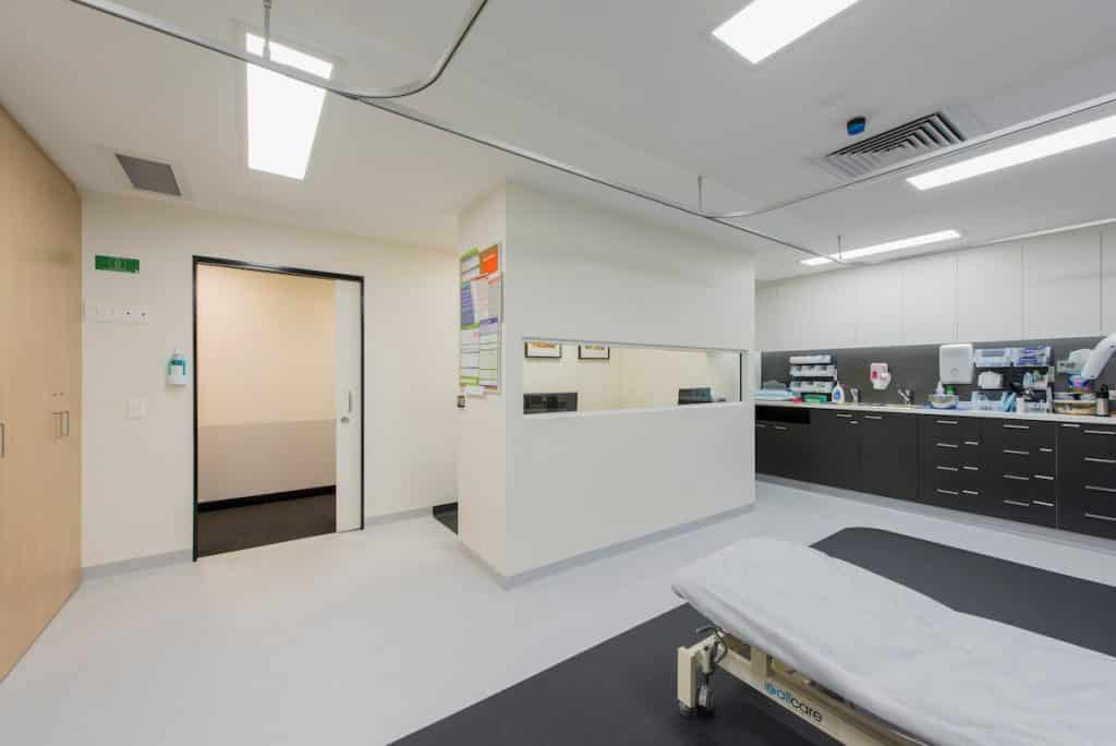 Medical clinic treatment room design