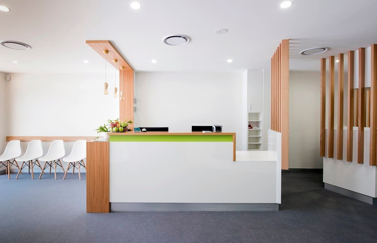 This medical practice was able to stay open during a practice refurbishment